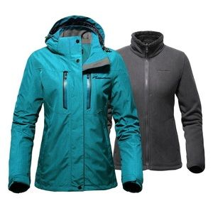 Outdoor Master 3 in 1 Ski Jacket Ocean Blue NWT
